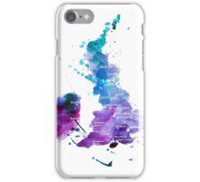 UK map in Watercolours iPhone Case/Skin