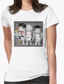 Cute Robot Trio -   Robo-x9  Womens Fitted T-Shirt