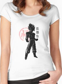SON GOKU - Baset of Dragon Ball Women's Fitted Scoop T-Shirt