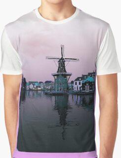 Retro Windmill Graphic T-Shirt