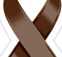 Brown Awareness Ribbon of Support Sticker