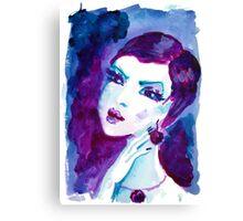 watercolour portrait iPhone case Canvas Print