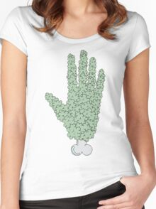 the hand Women's Fitted Scoop T-Shirt
