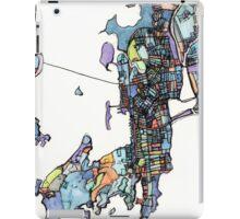 Abstract Map of Newport RI iPad Case/Skin