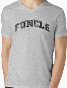 Funcle Mens V-Neck T-Shirt