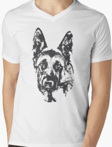 German Shepherd Mens V-Neck T-Shirt