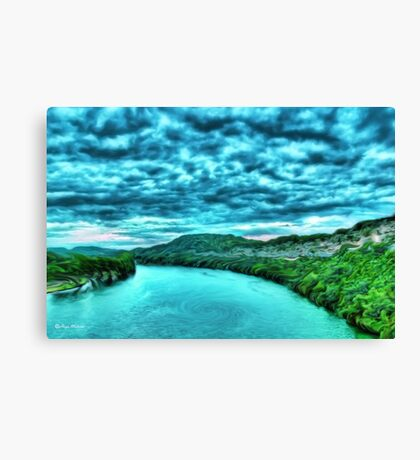 River blue-  Art + Products Design  Canvas Print