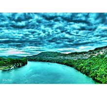 River blue-  Art + Products Design  Photographic Print