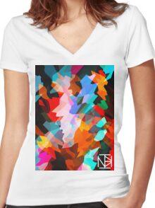 NoxInBox Hipster Design 1 Women's Fitted V-Neck T-Shirt