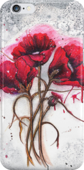 Lisa's Poppies by Sandra Gale