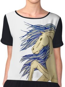 Watercolor horse Chiffon Top