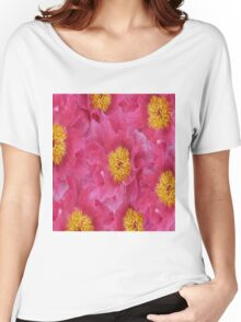 Peony flower oil painting Women's Relaxed Fit T-Shirt