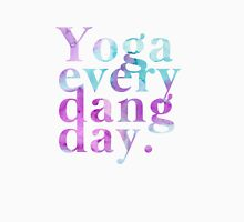 Yoga Every Dang Day in Purple and Blue Unisex T-Shirt