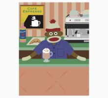 Sock Monkey Coffee Shop by pounddesigns