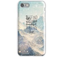 LOST QUOTE iPhone Case/Skin