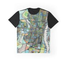 Abstract Map of Philadelphia PA Graphic T-Shirt