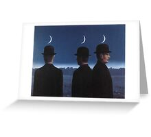 The Mysteries of the Horizon by Magritte  Greeting Card