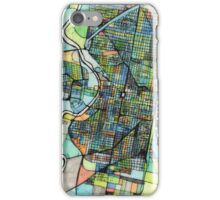 Abstract Map of Philadelphia PA iPhone Case/Skin