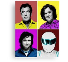 Top Gear Inspired Pop Art, All Personalities in One Canvas Print