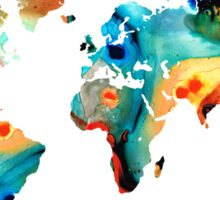 Map of The World 11 -Colorful Abstract Art Sticker