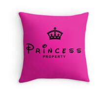 Princess Property Throw Pillows Throw Pillow