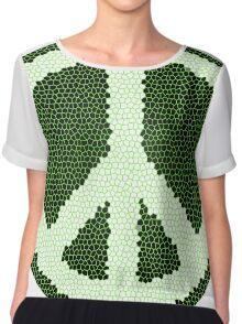 Green Peace Design Chiffon Top
