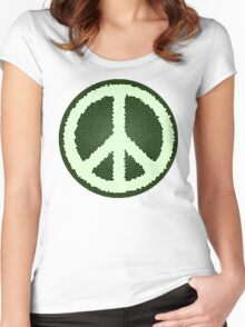 Green Peace Design Women's Fitted Scoop T-Shirt
