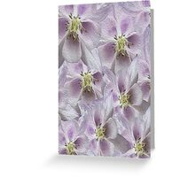 Flower Floral oil painting Greeting Card