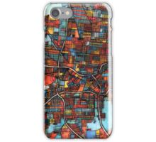 Abstract Map of San Antonio TX iPhone Case/Skin
