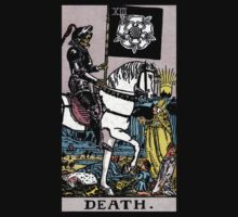 Tarot - Death. (BLACK TEE ONLY) by Beau Tobler