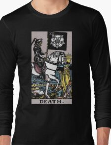 Tarot - Death. (BLACK TEE ONLY) Long Sleeve T-Shirt