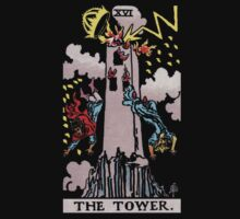 Tarot - The Tower (black tees only) by Beau Tobler