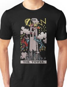 Tarot - The Tower (black tees only) Unisex T-Shirt