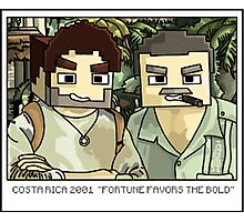 Minecraft Drake and Sully Selfie Photographic Print