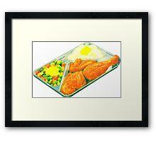 TV Dinner Framed Print