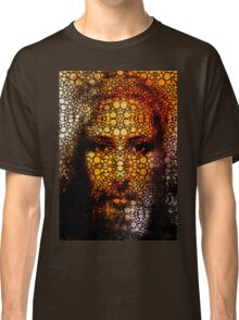 Savior - Stone Rock'd Jesus Art By Sharon Cummings Classic T-Shirt
