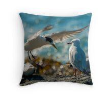 seagull party Throw Pillow