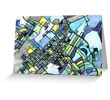 Abstract Map of State College PA Greeting Card