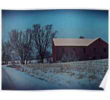 Blue Winter Morning Poster