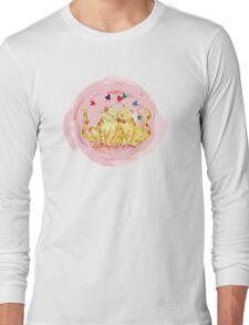 Love Cats Watercolor Long Sleeve T-Shirt