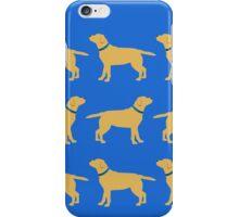 Golden Labradors - Blue Collar iPhone Case/Skin