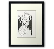 Dragon Bust Ravok Framed Print