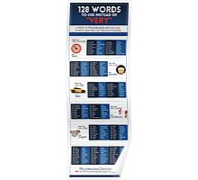 "128 Words to Use Instead of ""Very"" (branded with logo) Poster"