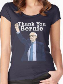 """Thank You Bernie""   White   Bernie Sanders Women's Fitted Scoop T-Shirt"