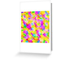 BRICK WALL SMUDGED (Multicolor Light)-(9000 x 9000 px) Greeting Card