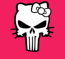 Punisher Kitty Black Womens Fitted T-Shirt