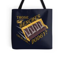Dodgy Benches Tote Bag