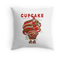 Chocolate Cherry Cupcake Throw Pillow Throw Pillow