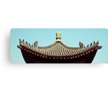 asia temple roof Canvas Print