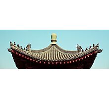 asia temple roof Photographic Print